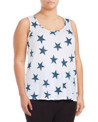 Marc New York - Blue Plus Star-print Tank Top - Lyst