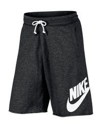 Nike - Black Textured Cotton Shorts for Men - Lyst