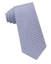 CALVIN KLEIN 205W39NYC - Blue Silk Woven Tie for Men - Lyst