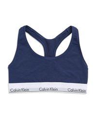 CALVIN KLEIN 205W39NYC - Blue Modern Cotton Bralette - Lyst