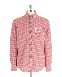 Ben Sherman - Red Gingham Plaid Shirt for Men - Lyst