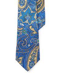 Lauren by Ralph Lauren | Yellow Paisley Silk Tie for Men | Lyst
