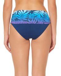 Bleu Rod Beattie - Blue Palm-print Sarong Hipster Bikini Bottom - Lyst