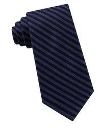 Michael Kors - Blue Stripe Tie for Men - Lyst