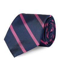 Lauren by Ralph Lauren - Pink Striped Silk Repp Tie for Men - Lyst