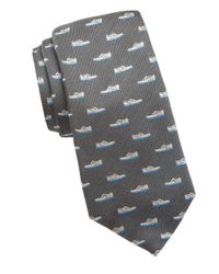 Cole Haan - Gray Shoe Embroidered Silk Tie for Men - Lyst