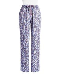 Calvin Klein | Blue Patterned Pajama Pants | Lyst