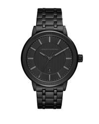 Armani Exchange - Maddox Black Ip Bracelet Watch for Men - Lyst