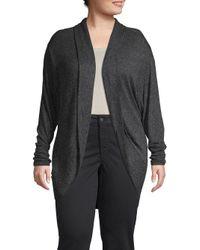 Marc New York - Black Plus Heathered Cocoon Sweater - Lyst