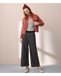 Lou & Grey - Gray Flannel Wide Leg Pants - Lyst
