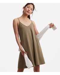 Lou & Grey - Multicolor Sueded Jersey Swing Dress - Lyst