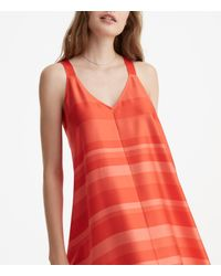 Lou & Grey - Red Striped Luster Swing Dress - Lyst