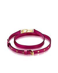 Louis Vuitton | Purple Adjustable Shoulder Strap 16 Mm Vernis | Lyst