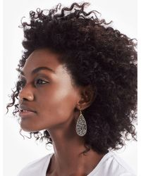 Lucky Brand - Black Beaded Earrings - Lyst