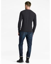 Lucky Brand - Black Lived In Thermal Henley for Men - Lyst