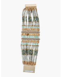 Lucky Brand - Metallic Beaded Statement Bracelet - Lyst