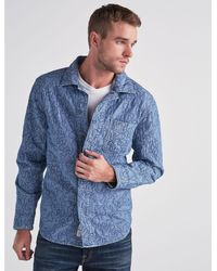 Lucky Brand - Blue Camo Quilted Jacket for Men - Lyst