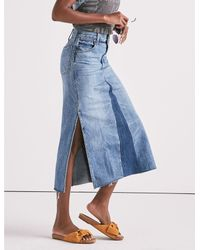 Lucky Brand - Blue Customized Skirt - Lyst