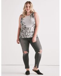 Lucky Brand - Gray Printed Floral Tank - Lyst