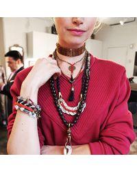 Lulu Frost - G. Frost X Michael Bastian - Herringbone Woven Bracelet Red - Lyst