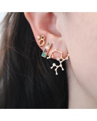 Lulu Frost - Multicolor Zodiacs Taurus + Earth Stud Set - Lyst