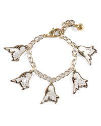 Lulu Frost | Metallic Flower Charm Bracelet | Lyst
