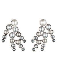 Lulu Frost | Metallic Pearl Spray Earring - Grey Ombre | Lyst