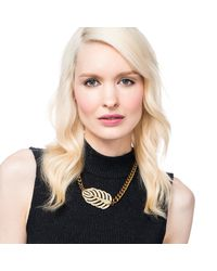Lulu Frost - Metallic Goldtone Drift Necklace - Lyst