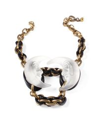 Lulu Frost - Black *vintage* Double Lucite Moon Necklace - Lyst