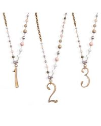 Lulu Frost | Metallic Plaza Number Necklace - Agate Stone Chain | Lyst