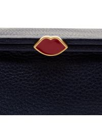 Lulu Guinness - Blue Midnight Sparkle Grainy Leather Small Julietta - Lyst