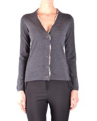 Burberry - Gray Burberry Cardigan - Lyst