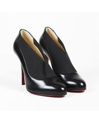 """Christian Louboutin - Black Nappa Shiny Leather """"toot Couverte"""" Ankle Boot - Lyst"""