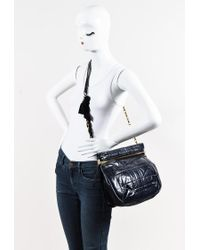 """Lanvin - Blue Calf Leather Quilted Ribbon & Chain Strap """"amalia"""" Crossbody Bag - Lyst"""