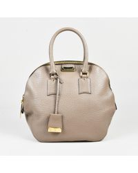 679e622830f9 Burberry Taupe Grained Leather Medium