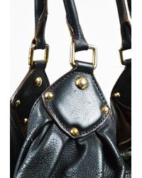 "Louis Vuitton - Black Monogram ""mahina"" Leather ""large Hobo"" Bag - Lyst"