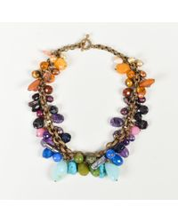 Stephen Dweck - Multicolor Gemstone Bead & Pearl Collar Necklace - Lyst