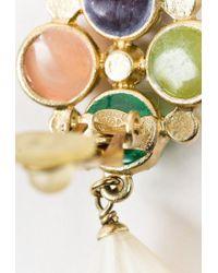 Chanel - Spring 2008 Faux Pearl Multicolor Crystal Drop Earrings - Lyst