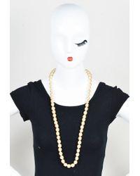 Chanel - Multicolor Vintage Cream Faux Pearl Long Necklace - Lyst