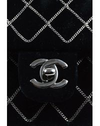 Chanel - 2004-2005 Black Velvet Chain Quilted 'cc' Single Flap Bag - Lyst