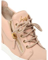 Giuseppe Zanotti - Pink 90mm Leather Wedge Sneakers - Lyst