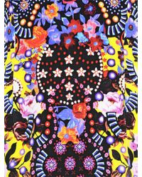 Mary Katrantzou Multicolor Floral Printed Silk Crepe Dress
