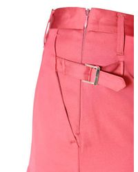 Golden Goose Deluxe Brand - Pink Pleated Viscose Skirt - Lyst