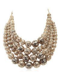 Rosantica - Metallic Innocenza Multi Strand Necklace - Lyst