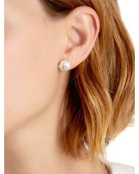 Bea Bongiasca - Metallic Silver Pearl Rice Stuf Earrings - Lyst