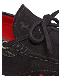 Tod's - Black Gommino 122 Tie Suede Driving Shoes for Men - Lyst