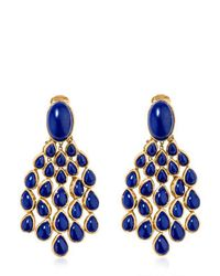 Aurelie Bidermann - Blue Cherokee Lapis Earrings - Lyst