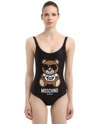 Moschino Black Teddy Bear One Piece Swimsuit