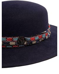 Maison Michel - Blue Rod Rabbit Fur Felt Hat - Lyst