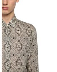 Saint Laurent - Multicolor Yves Paisley Printed Wool Shirt for Men - Lyst